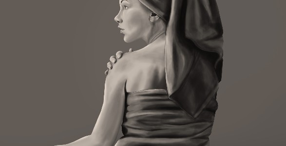 Woman in Towel Paining
